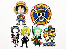 6 One Piece Anime Laptop Wall Stickers Luffy Zoro Nami Boa #BW