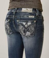 NEW - Miss Me Womens Mid-rise Boot Cut Denim Jeans - Size 26 x 33L