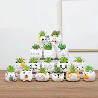 Cute Succulent Animal Flower Pot Ceramic Vase Planter Desktop Home Decor Garden