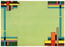 STOCK CRATE LABEL RARE ART DECO MONDRIAN ROESCH 1930S GENUINE GRAPHIC DESIGN