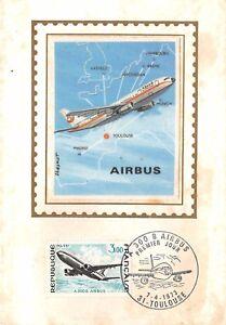 France (A 300 Airbus) 1973 carte premier jour