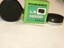 FUJICAREX FUJIFILM FUJI FUJICA 49mm METAL SLIP ON LENS SHADE HOOD in BOX