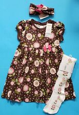 GYMBOREE LOT GIRL'S SIZE 4T DRESS TIGHTS HAIRBAND FLOWERS NWT