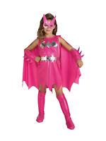 Child Batman Pink Batgirl Fancy Dress Costume Book Week Superhero Kids Girls BN