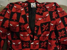 NWT NBA FOCO Chicago Bulls Men's Dress Coat Business Jacket Holiday Size 44