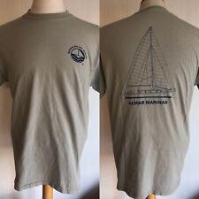 Marina Del Rey California Almar Marinas Vintage 90s Boat Sailboat T-Shirt Medium