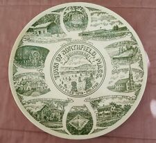 Souvenir Plate - Vintage 1973 Tercentenary - Northfield, Ma - good condition