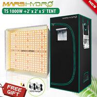 Mars Hydro TS 1000W LED Grow Light Full Spectrum+2'×2'Indoor Tent Combo Flower