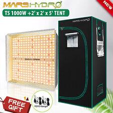 Mars Hydro Ts 1000W Led Grow Light Full Spectrum+2'×2' Indoor Tent Combo Home Box