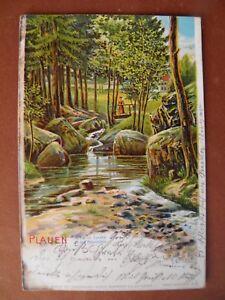 Künstler AK 1908 Plauen Syratal
