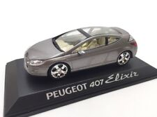 Peugeot 407 Elixir n9/40 Collection Concept Cars 1/43 Altaya On Base Fascicle