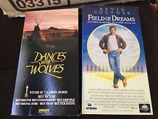 KEVIN COSTNER - DANCES WITH WOLVES & FIELD OF DREAMS - VHS VIDEO TAPES