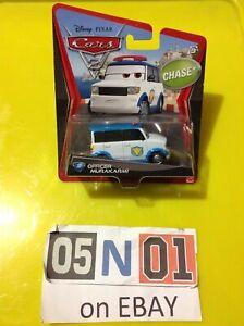 1:55 DISNEY PIXAR CARS, MATTEL DIE CAST,OFFICER MURAKARMI  (CHASE CAR) (FB01)