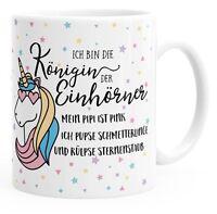 Einhorn Tasse mit Spruch ich bin die Königin der Einhörner Einhorn-Tasse