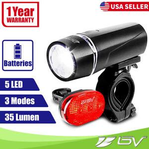 BV Super Bright Bike Light Set Safety Flashing 5 LED Head Light 3 LED Tail Light