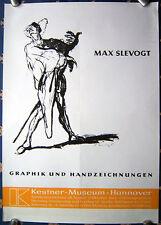 MAX SLEVOGT - German Exhibition Poster - Ausstellungsplakat - 1965 - Hannover