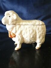 More details for vintage otagiri hand crafted in japan lidded sheep sugar dish/cruet