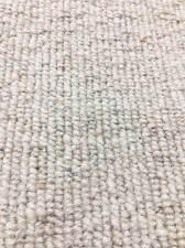 Carpet Remnant Roll End Heavenly Linen Light Beige Wool Loop Pile 4x10m 50% OFF