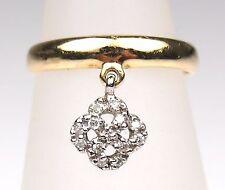 Sonia B. 14k Yellow Gold & Diamond Charm Toe Ring Sz. 3.5 (Adjustable)