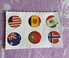6 Flag Home Button Sticker for Apple iPhone 4 iPad &iPod