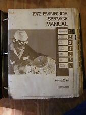 1972 Evinrude Service Manuals Mate-Fisherman-Sportwin-Fastwin-Sportster-Norseman