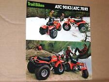 1975 Honda ATC90 K3 / ATC70 K1 THREE WHEELER BROCHURE - Literature