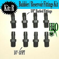 "(8) Nylon Fittings 1/4""- 18 NPT to 3/8"" Barb Fittings: HHO Bubbler,  Reservoir"