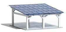 Busch 1572 HO (1/87e): Moderne Solarcarport, Carport met zonnepanelen