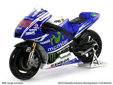 Yamaha Factory Racing team Moto GP 1:18 Maisto Diecast Scale model bike