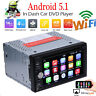 "Android 5.1 7"" Double 2Din Car Radio Stereo DVD Player GPS Nav OBD BT 3G WiFi HD"