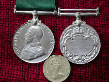 Replica Copy GV Colonial Auxiliary Forces Long Service Medal Full size aged
