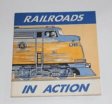 Railroads in Action A Picture Book of the American Railroads 1968