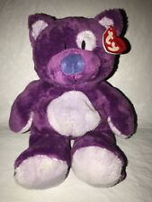 2005 Ty Classic Roller Purple Cat Winking Beanie Stuffed Plush Soft Toy New Nwt