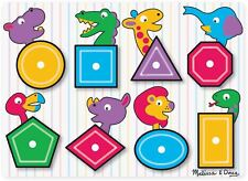 Melissa & Doug SEE INSIDE WOODEN PEG PUZZLE/JIGSAW SHAPES Toddler Toy/Gift BN