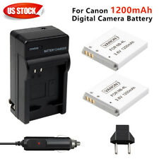 2PACK NB-4L 1200MAH Battery + charger For PowerShot Canon NB4L SD30 SD1100