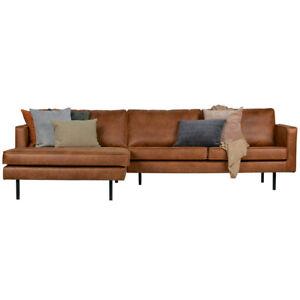Eckgarnitur RODEO Leder cognac Couch Sofa Ecksofa Ledercouch Longchair NEU