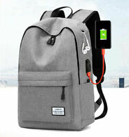 New Mens Canvas School Backpack Casual Notebook Travel Laptop Bag 2021