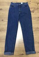 "Vintage Calvin Klein Womens Blue Denim Jeans W30"" L31"" Rolled Up 27.5"""