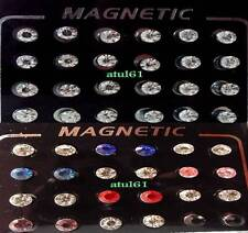 MAN'S LADIES CRYSTAL MAGNETIC FAKE STUD EARRINGS NON PIERCING FASHION JEWELLERY