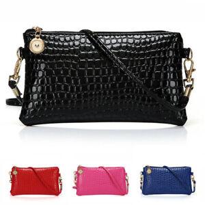 Women Handbag Shoulder Ladies Purse Messenger Crocodile Pattern Crossbody Bag