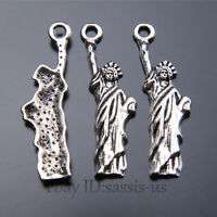 40 pieces 34mm Statue of Liberty Pendant Charms Tibetan Silver DIY Jewelry A7440