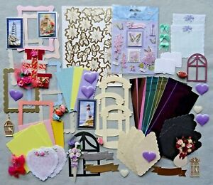 Mixed Craft Supply Items Card Making Toppers Stickers Scrapbooking