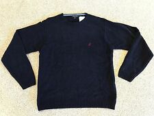 NWT NEW NAUTICA SOLID NAVY BLUE CREWNECK SWEATER SIZE L LARGE
