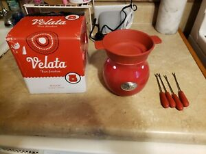 Scentsy Velata Rouge Fondue Warmer Red