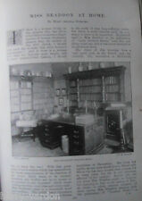 Mary E Braddon at Home Author Writer Novelist Old Victorian Photo Article 1897