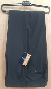 NEW *CLUBCLASS **MENS 32L LONG LEG NAVY BLUE TROUSERS RRP£39 OFFICE CASUAL WORK