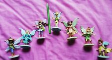 Disney Store Tinkerbell and 6 Friends Fairies Figurines cake toppers Christmas