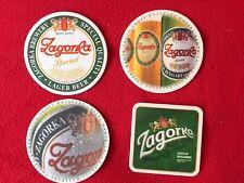 4 different beer mats from Bulgaria Zagorka special bar pub coasters rare set