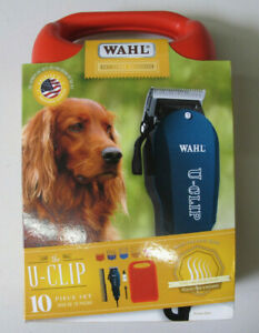 Wahl Professional Animal U-Clip Pet Clipper & Grooming Kit 10 Piece Set Teal