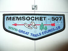 OA Memsochet Lodge 507,HS1,Like First Flap,FF,83,277,556,Great Trails Council,MA